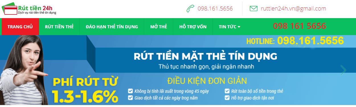 rut tien the 24h