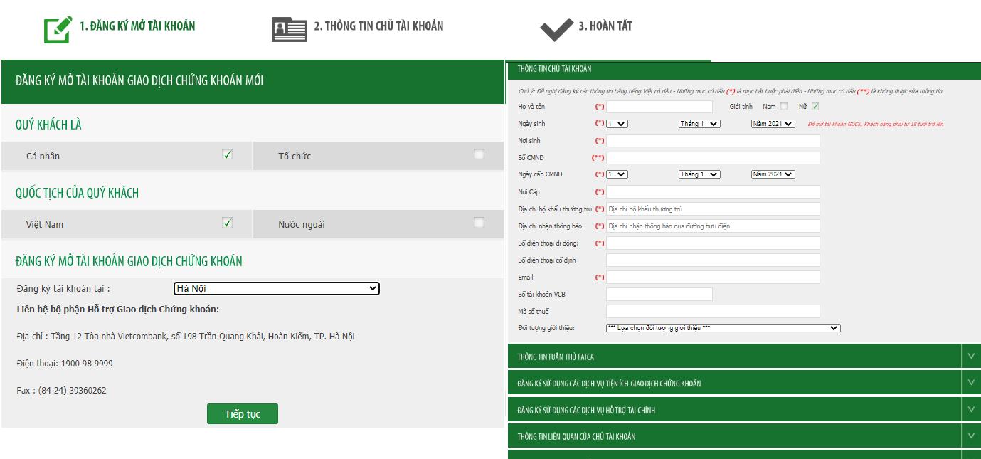 Cách mở tài khoản Vietcombank đơn giản, nhanh chóng từ A - Z