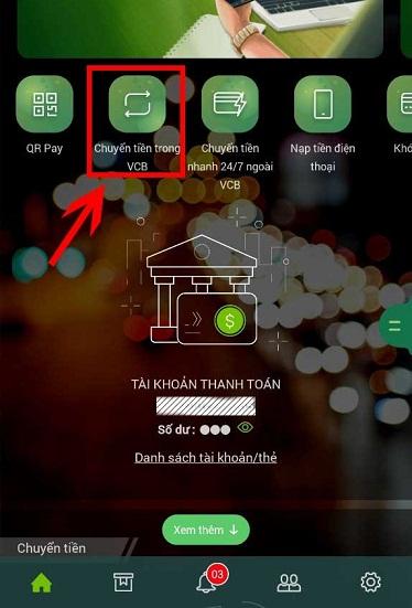 Cách chuyển tiền Vietcombank Online nhánh chóng chỉ 1 phút