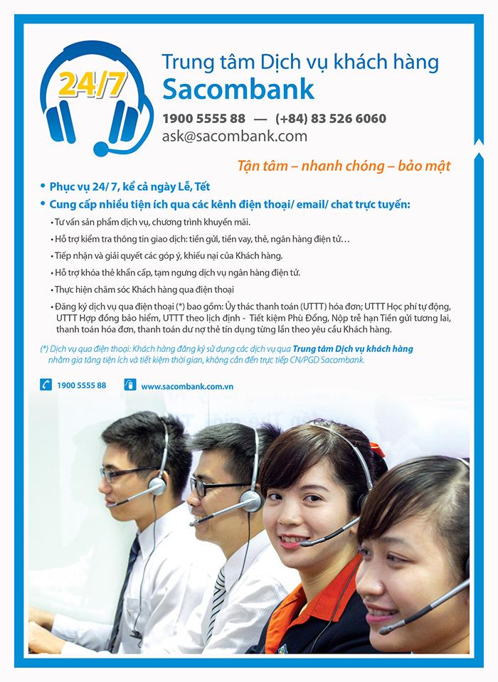 Tổng đài Sacombank - Số hotline CSKH ngân hàng Sacombank 24/7 miễn phí