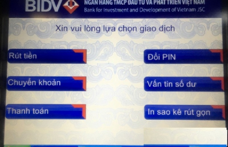Cách đổi mã pin thẻ ATM BIDV trên điện thoại, cây ATM chính xác 100%