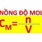 Công thức tính nồng độ mol, nồng độ phần trăm dung dịch